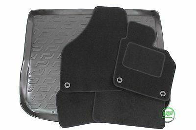 VW TIGUAN 2007-2015  5 seats Tailored black floor car mats + boot tray mat