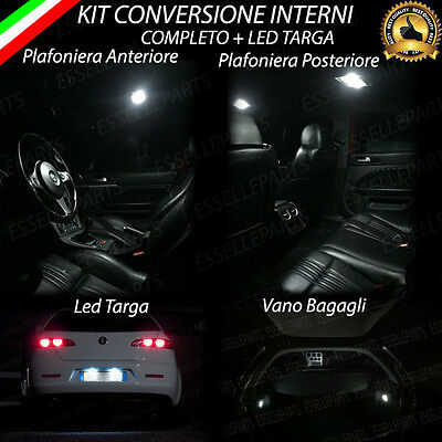 Kit Led Interni Alfa 159 Sw Conversione Completa + Luci Targa Led Canbus 6000K