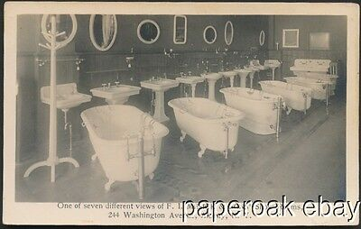 1911 F.I. Mesick & Sons Plumbing Albany, N.Y.  Advertising  Photo Postcard