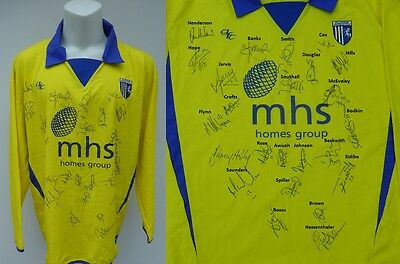 2004-05 Gillingham Away Shirt Signed by Squad - Complete Signature Map (7904)