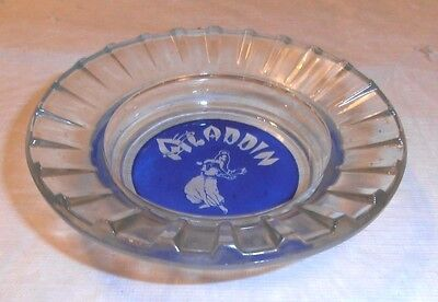 Vintage Old Aladdin Hotel Casino Glass Ashtray Las Vegas Not Used