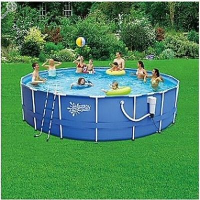 """Summer Escapes 18' x 48"""" Round Pool with 1000 GPH Skimmer Filter"""