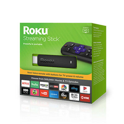 Roku 3800R Media Streaming Stick HDMI with Remote Control 2017 Version