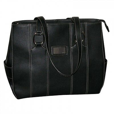 Buxton Black Kara Laptop, Tablet, Ipad Bag - Faux Leather - Gently Used