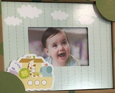 Carte Blanche Blossom & Buds Wooden Noah's Ark Baby Photo Frame -Cloud Baby Gift