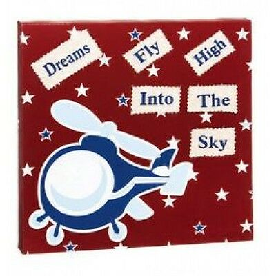 Blossom & Buds Transport Wall Canvas - Red - Helicopter - Dreams Fly High