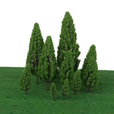 10 Mix Model Trees Train Railway Architecture Forest Scenery Layout 4.8-16cm