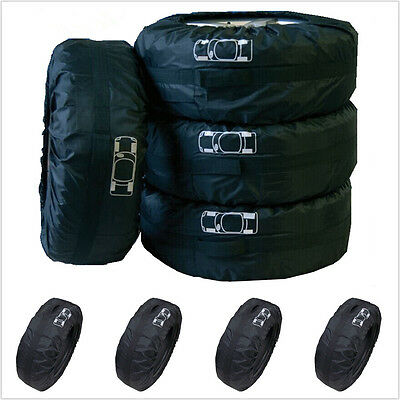 """4x SUV Truck 4x4 Spare Tyre Storage Protection Cover Carry Tote Bag 16""""-22"""" Tire"""