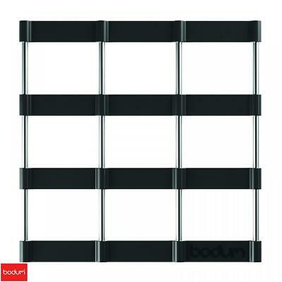 Bodum Bistro Stainless Steel And Silicone Trivet Black Kitchen Utility Home New