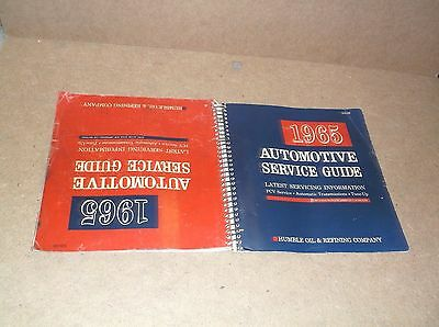 Vintage 1965 Humble Oil & Refining Co. Automotive Service Guide Repair Manual