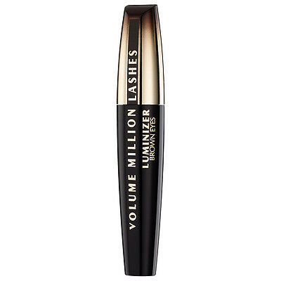 Loreal Volume Million Lashes Luminizer Brown Eyes Mascara Black Diamond  9 ml