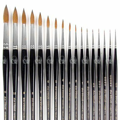 Da Vinci Maestro Kolinsky Sable Series 10 Rounds. Artists Watercolour Brush.