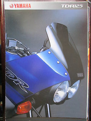 Catalogue Brochure 4 Pages 2001 Yamaha  Dtr 125