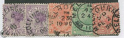 Victoria Used Stamps 5 Copies Fully Dated