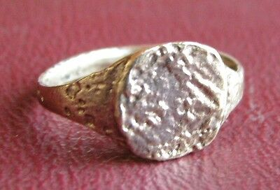 Ancient Artifact > 18th Century Bronze Finger Ring SZ: 2 3/4 US 14mm 14475 DR