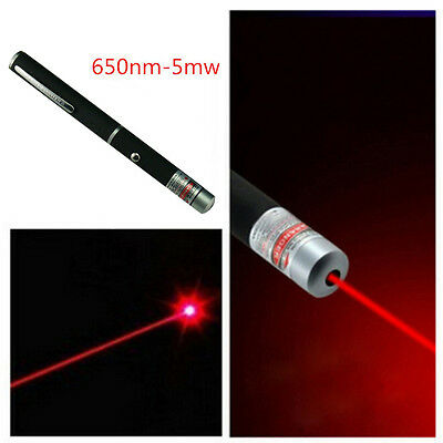 Powerful Laser Pointer Pen Visible Beam Light 5mW High Power 532nm Red