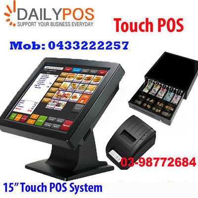 Complete Touch Screen Point of Sale System POS Restaurant Cafe  fish Chips Pizza