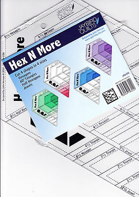 Hex N More - fabulous ruler from Jaybird Quilts - cuts four shapes
