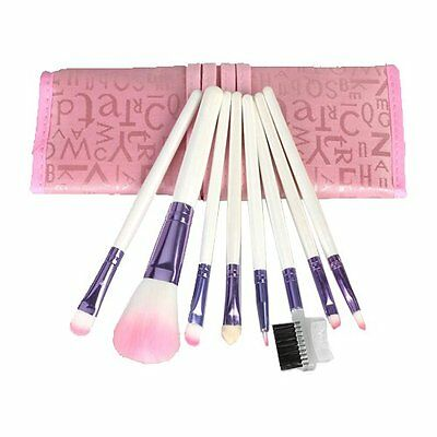 CY 8PCS Professional Makeup Cosmetic Brushes set Travel Make Up Kit Pouch Case