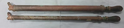 #Jj4.  Two  Copper &  Brass Spray Tubes, Rega  Brand