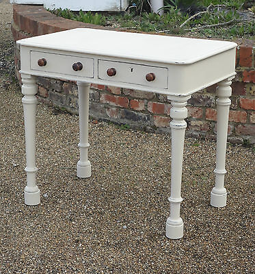 Antique Georgian Mahogany Painted Shabby Chic Writing Desk Side Table Console
