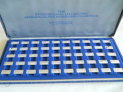 Franklin Mint The International Locomotive Sterling Miniature Collection