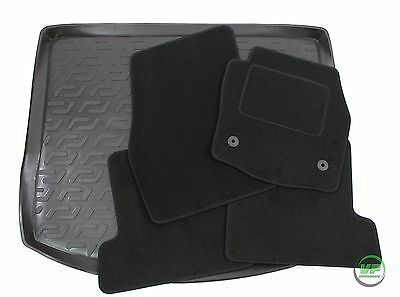 FORD KUGA mk2 2013 - 2016 Tailored black floor car mats + boot tray mat