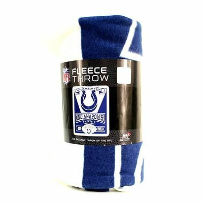 Indianapolis Colts Fleece Throw Blanket, Marquee Design
