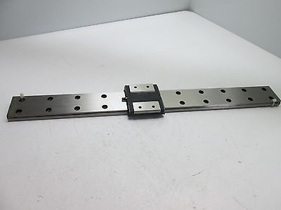 THK RSR15WZM Carriage On 43cm Long Rail (43cm x 4cm x 1cm),*Without Keepers*