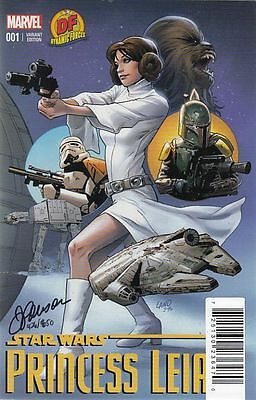 Star Wars Princess Leia #1. Signed Dynamic Forces Variant. Boarded. Free Uk P+P!