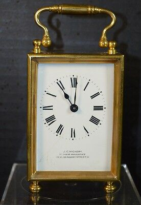 Fine Vintage J.C. Vickery Brass English Clock