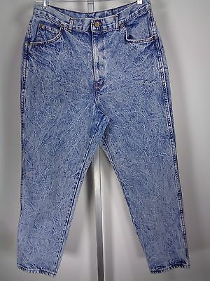 Women's Vintage High Waist Mom Jeans Acid Wash Chic Size 22 Petite 36 X 28 USA