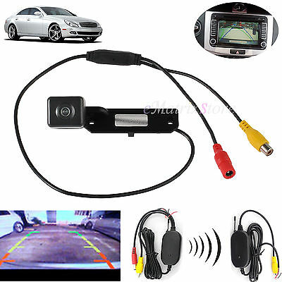 2.4G Wireless CCD Rear Reverse Camera Video Receiver For VW Passat Golf Plus T5