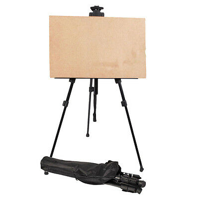 NEW BLACK ARTIST FOLDING EASEL LIGHT WEIGHT With CARRY BAG Perfect CA
