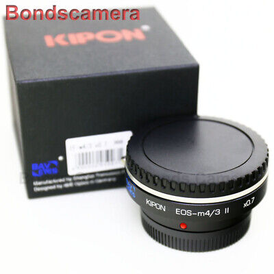 Kipon Baveyes 0.7x Optic Reducer Adapter Canon EOS EF Lens to Micro 4/3 MFT GH4