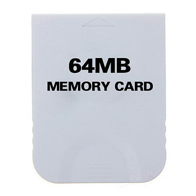CY 64MB 4M Memory Card For Nintendo Wii Gamecube Game Cube GC Console White