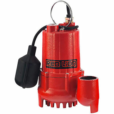 Red Lion RL-SC50T - 1/2 HP Cast Iron Submersible Sump Pump w/ Tether Float Sw...
