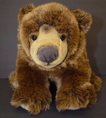 Brown Grizzly Bear FAO Schwarz Plush Stuffed Animal Toys R US 14""