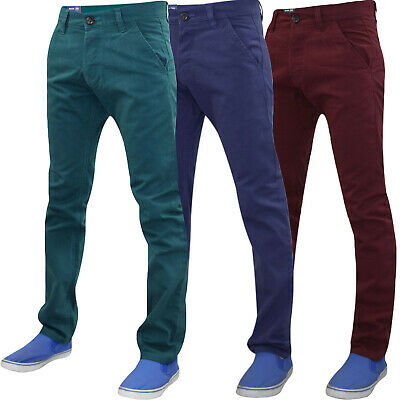 Mens Kushiro City Chinos 100%  Cotton Trousers Pants Slim Fit Casual Jeans