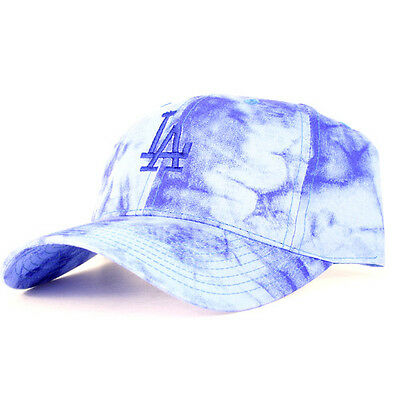Los Angeles Dodgers MLB Unisex Baseball Cap, Blue Tye-Dye
