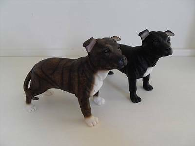 Brindle Or Black & White Staffordshire Bull Terrier Staffie Dog Ornament Gift