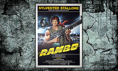 Original Movie Poster Rambo 100x140 cm - Sylvester Stallone