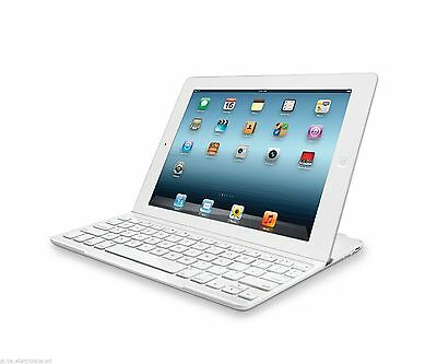 Tastiera Qwerty Bluetooth Per Ipad 2 E 3 Supporto Case Cover In Alluminio Tablet