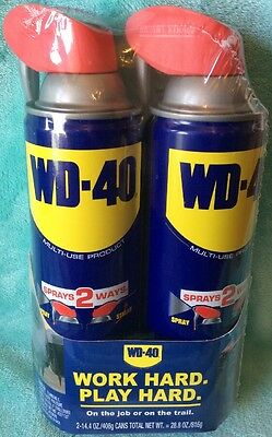WD-40 Smart Straw 14.4oz. Aerosol Can (2-Pack) Multi-Use Product