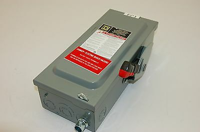 Square D Disconnect Safety Switch H361, 600VAC, 30A, 1-PH