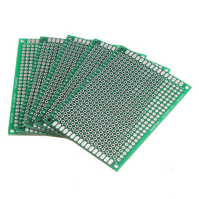 CY 5Pcs Double Side 5x7cm Printed Circuit PCB Vero Prototyping Track Strip Board