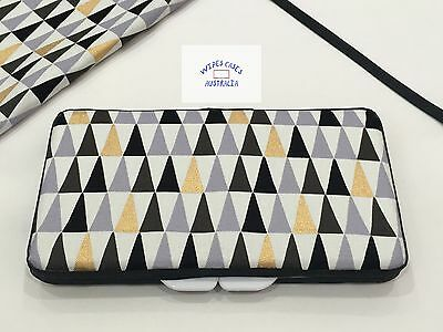 Black, White, Grey & Gold Geo Baby Wipes Case - Perfect Gift For Baby Shower