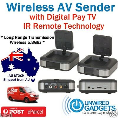 NEW5.8Ghz Wireless AV Sender TV Audio Video Transmitter Receiver New Foxtel IQ2