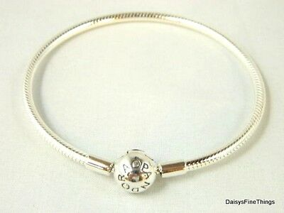 New/tags  Authentic Pandora Bracelet Smooth Silver Clasp #590728 21Cm/8.3In