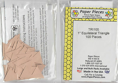 """1"""" Equilateral Triangles - EPP papers pack - 100 pieces"""